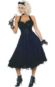 Adult Material Girlie 80s Costume