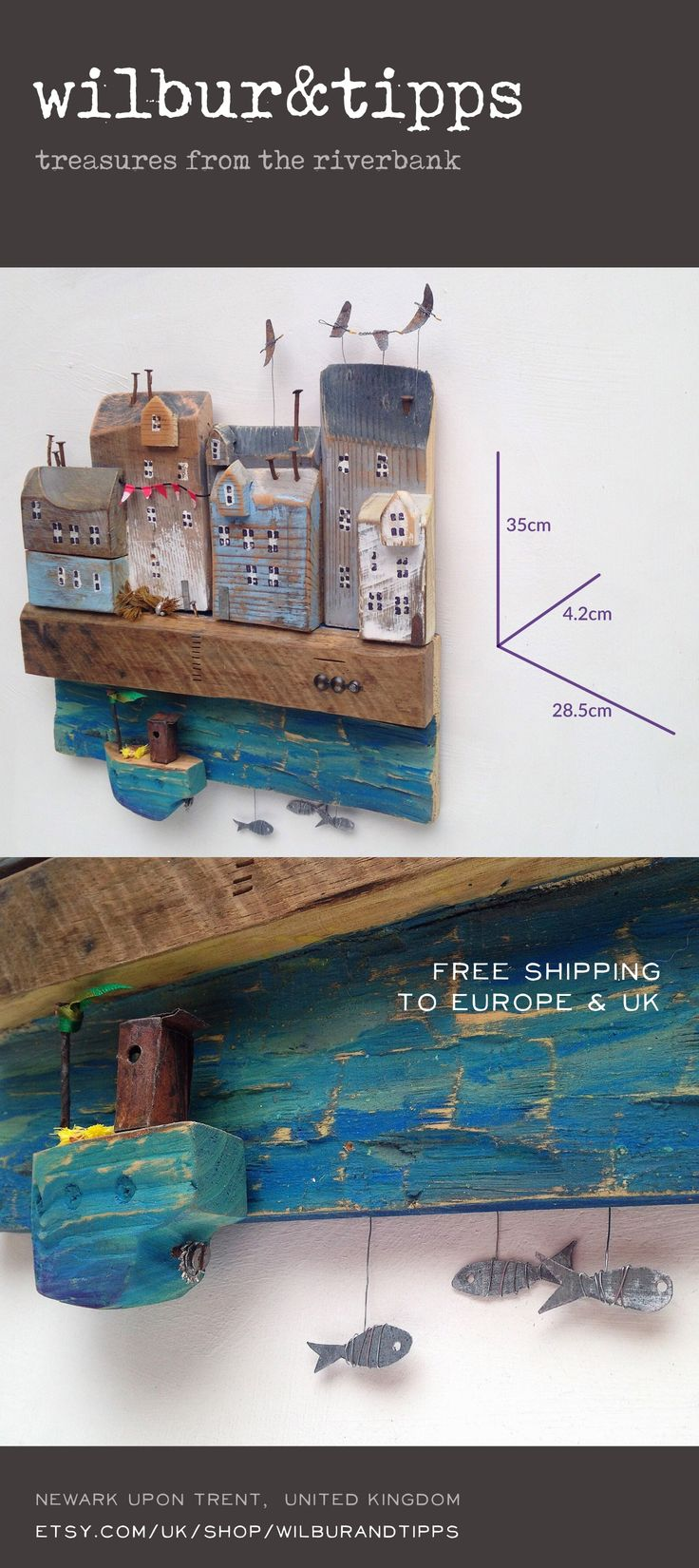 £42.99 / €49.00  FREE DELIVERY Europe & UK  driftwood art, driftwood sculpture, triebholz kunst