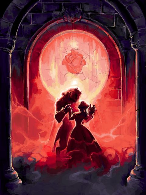 Beauty and The Beast, but for some reason looks somewhat like something from The Phantom of the Opera.