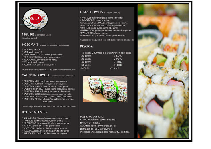 Carta Narekai Sushi