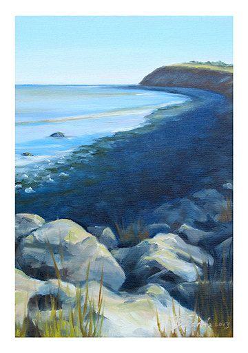 5x7 Greeting Card by Daina Scarola, Item #GC5X7-34 (Cow Bay, eastern passage, Nova Scotia, waves, surf)