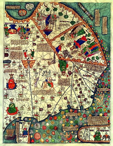 Каталонский атлас, 1375. - Старые карты.Eastern Asia