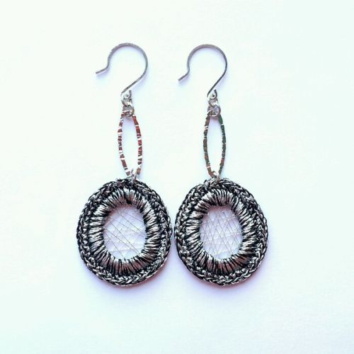 Fashion Womens Jewelry Handmade Earrings with plated over Sterling silver Dangle