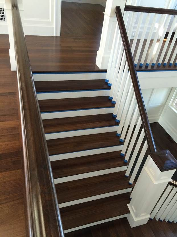Select Grade Walnut Rift And Quartered Stair Treads With Walnut Stain And  An Oil Finish.
