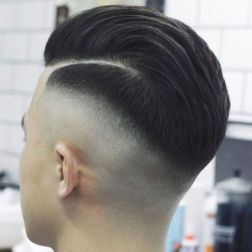 High Razor Fade with Long Hair on Top