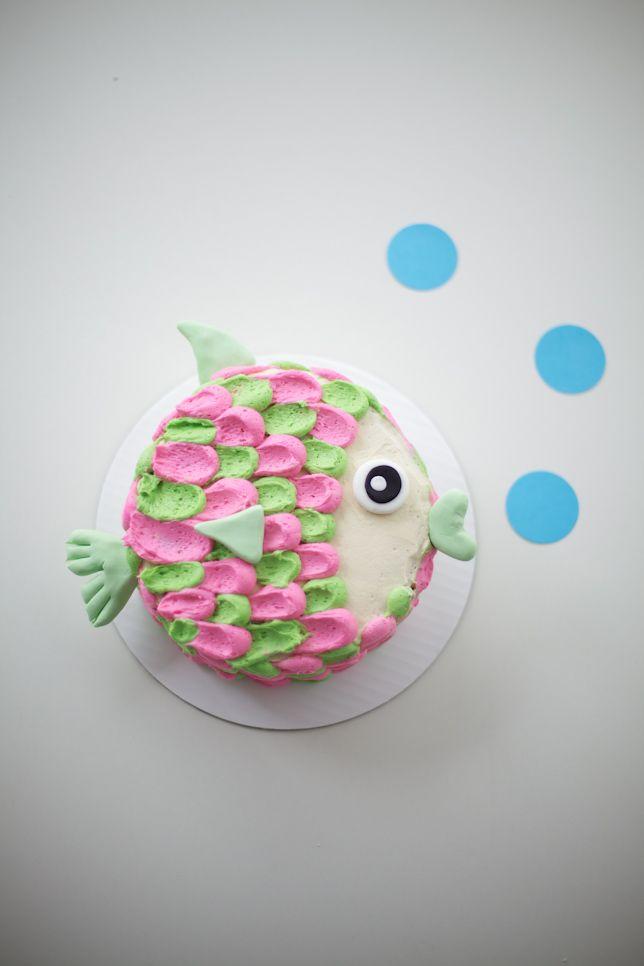 fish birthday cake tutorial - coco cake land