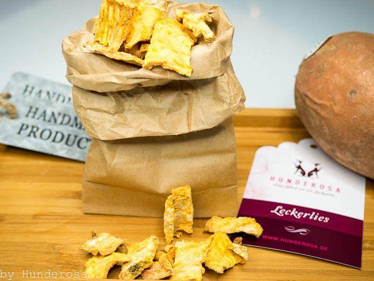 gesunde Süßkartoffel-Leckerlis für Hunde eine Alternative für Allergiker und BARFER ein easy Rezept und mega gesund für eure
