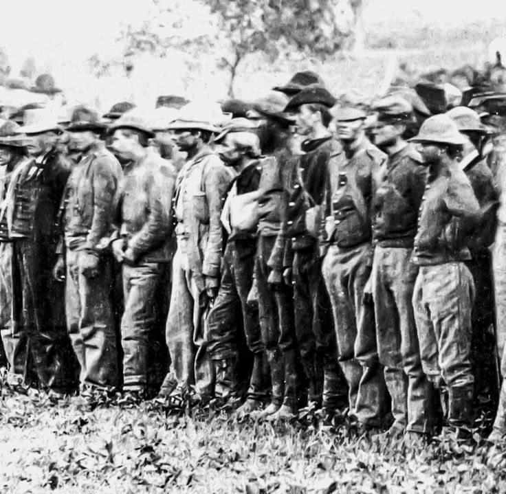 Confederate soldiers prisoners of war ~1863