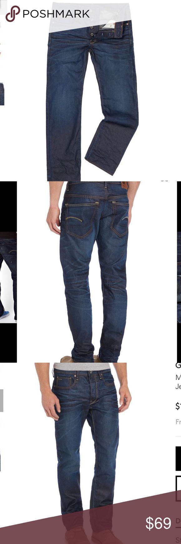 G-Star Raw jeans straight leg Sz 32 blue Men's dark wash straight leg jeans Sz 32 reg G-Star Jeans Straight
