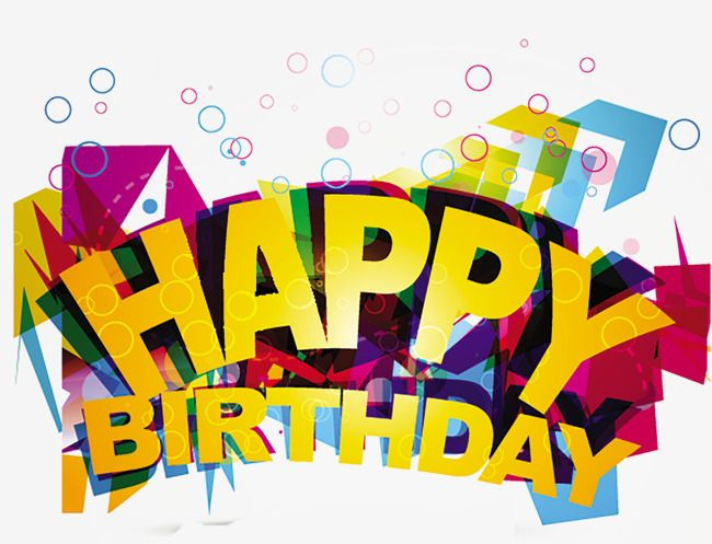 Happy Birthday Happy Birthday Vector Wordart Png Transparent