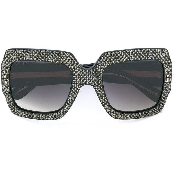 629ed82d149120 Gucci Eyewear embellished frame sunglasses ( 1,380) ❤ liked on Polyvore  featuring accessories, eyewear. Strass NoirStrassLunettesGucciLunettes ...