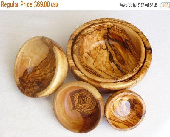Olive Wood Bowl Set