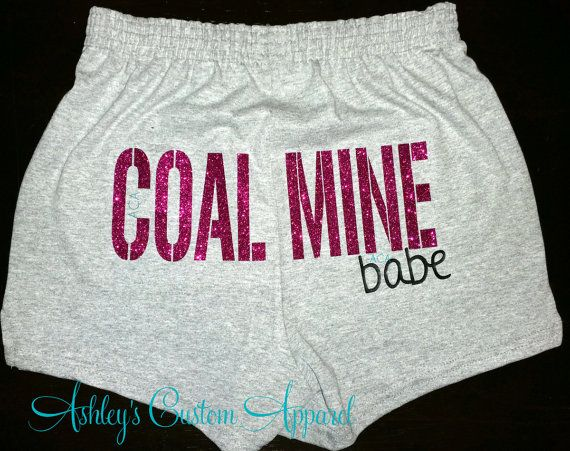 Coal Mine Babe Short Coal Miner Coal by AshleysCustomApparel