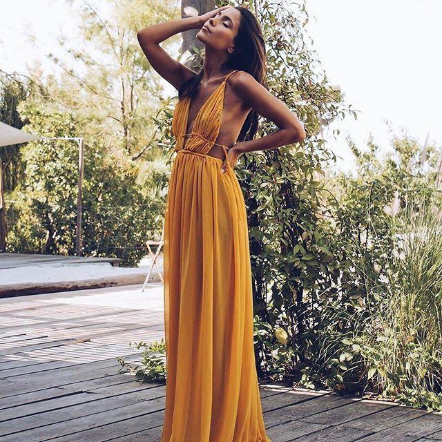 Para olas de calor, vestidazos fresquitos  #disoñandobodas #disoñando #dress #wedding #invitada #invitadaperfecta #guest #style #amarillo #estilo #fashion #vestido #calor #sol #love
