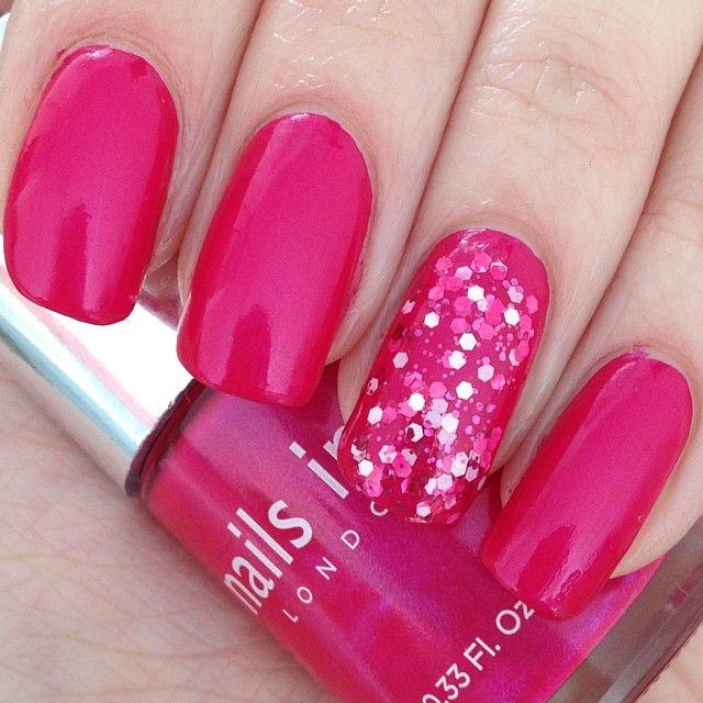 Best Bright Red Nail Polish: The 25+ Best Bright Pink Nails Ideas On Pinterest