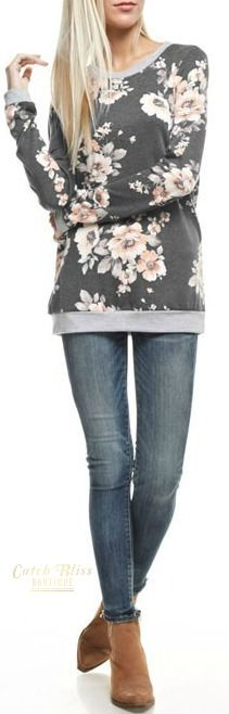 Fall Fashion Top. Fall floral fashion top with effortless style. Be chic and cozy at the same time. All orders ship within 48 hours and free shipping order orders $50 and over!