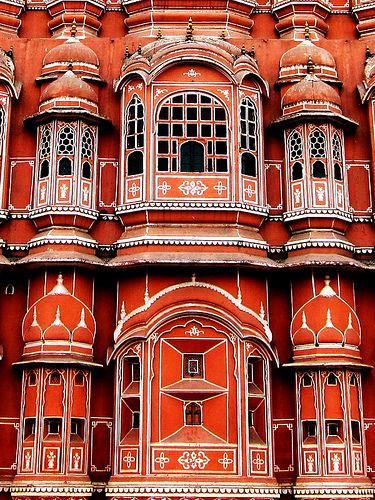 Hawa Mahal palace in Jaipur, India    ✯ ♥ ✯ ♥  image credit:   http://once-upon-a-story.tumblr.com/post/12570039276  ✯ ♥ ✯ ♥  click the pin to watch the 5 minute video at http://snow.energygoldrush.com  ✯ ♥ ✯ ♥  #AmbitEnergy #orange #energygoldrush