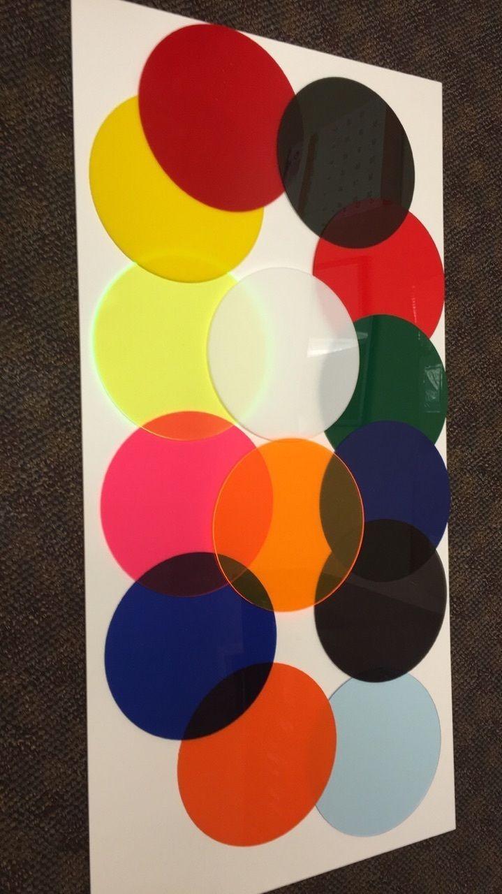 Acrylic Paint 31401: Transparent Acrylic Plexiglass 1 8 Plastic Sheet Circles Rounds -> BUY IT NOW ONLY: $30.5 on eBay!
