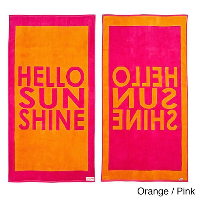 Hello Sunshine Reversible Oversized Beach Towel - Overstock™ Shopping - The Best Prices on Freeman Beach Towels