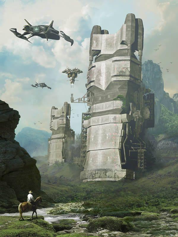 3d spatial science fiction blond slave 7