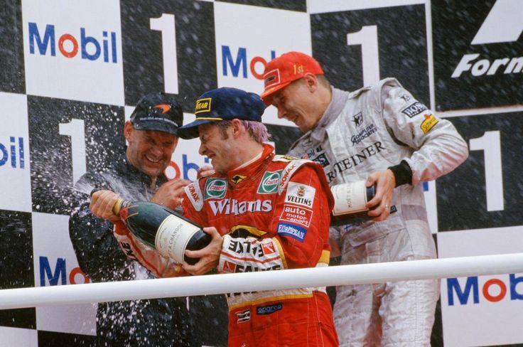 Adrian Newey, Jaques Villeneuve and Mika Hakkinen in Germany, 1998