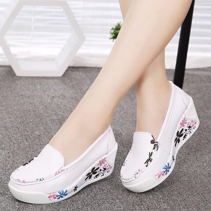 Lady Simple High Leather Shoes