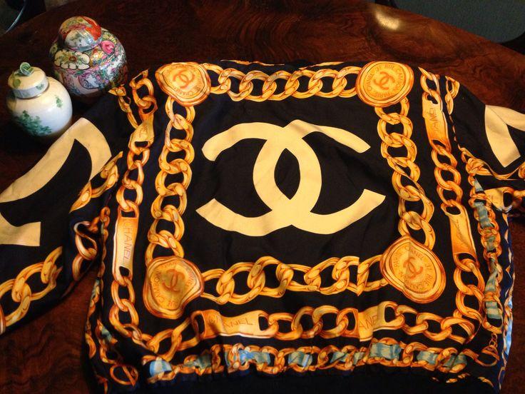 #Chanel #chainprint silk bomber jacket back