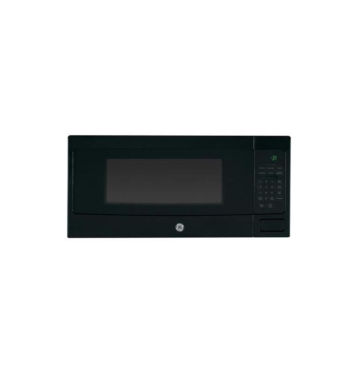 GE PEM31 24 Inch Wide 1.1 Cu. Ft. Countertop Microwave Oven with Sensor Cooking Black Microwave Ovens Microwave Countertop