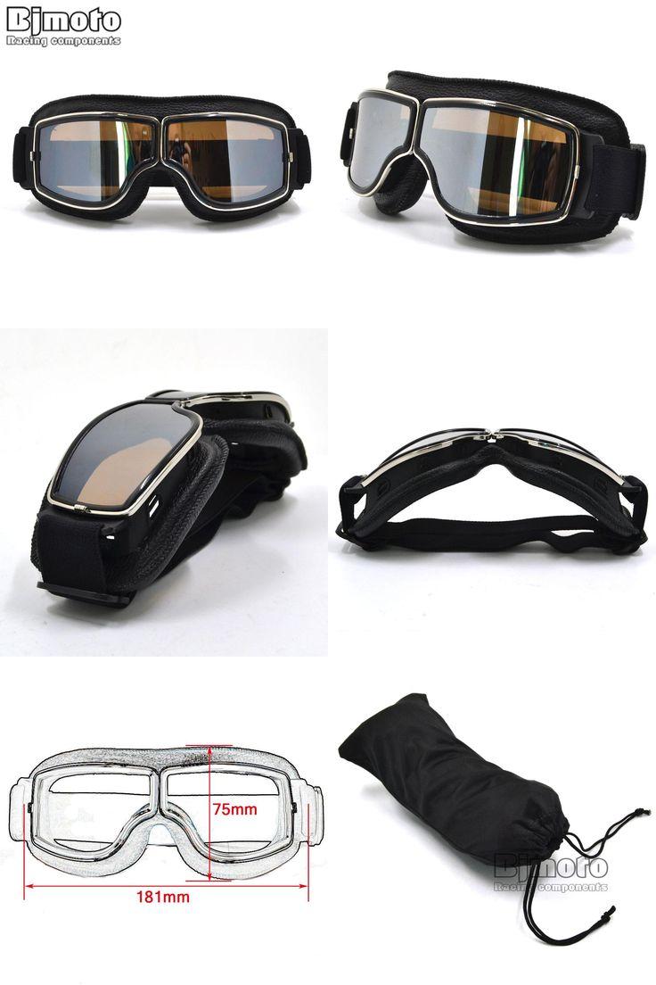 [Visit to Buy] GT-011-BK-SM NEW Harley Style Motorcycle Goggles Pilot Motorbike Goggles Leather Retro Jet Helmet Eyewear #Advertisement