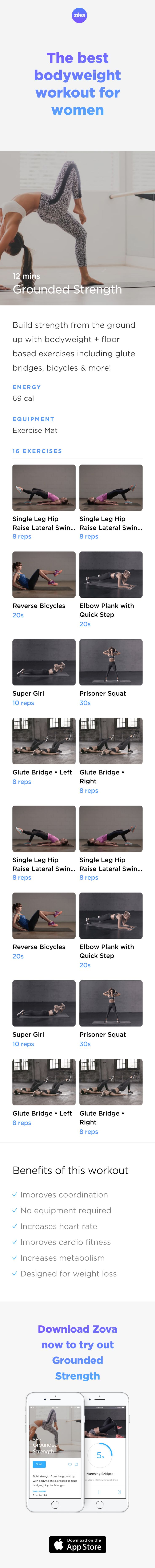 Strong is the new sexy. And the best way to build muscle is to eat well and exercise regularly with the right strength-building moves. This short, results-driven workout is designed to burn fat and build strength using a mix of targeted exercises. You'll build a strong base for your core muscles and tone up quickly! #workout #bodyweight #HIIT #fitness
