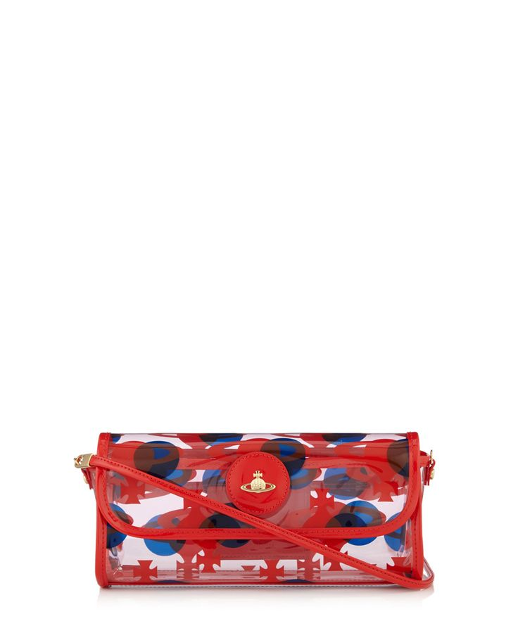 Ecopelle red clutch bag Sale - Vivienne Westwood