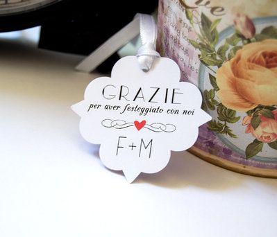 Etichette Ringraziamento per Matrimonio,Etichette Personalizzabili 12 pz