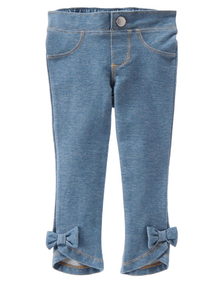 Bow Jeggings at Gymboree OWN
