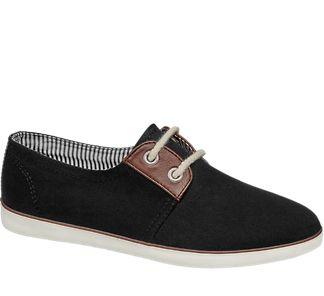 Damen Leinen Sneakers von Graceland in schwarz - deichmann.com
