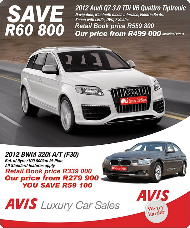 2013 Audi Q7 Tdi: Save R60 800 On A 2012 Audi Q7 3.0 TDi V6 Quattro