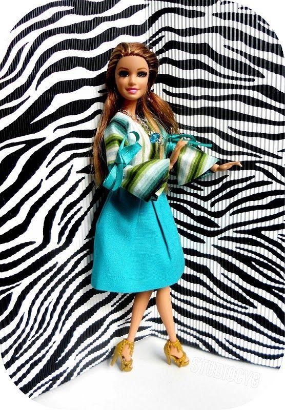 MiniatureCloting: Fantasy bell sleeve for Barbie.Miniature Pleated d...