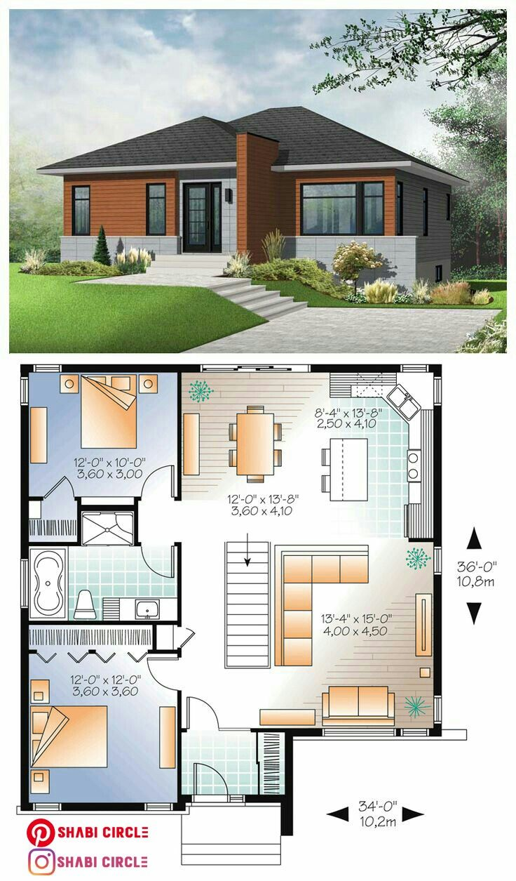 Family Home Designs In 2020 Modern Bungalow House Plans Bungalow House Design Bungalow House Plans