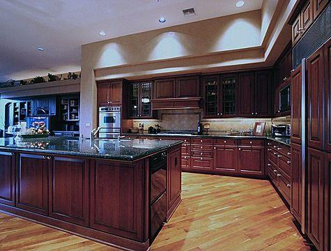 Best Dark Kitchen Cabinets Countertops With Light Wood Flooring 400 x 300