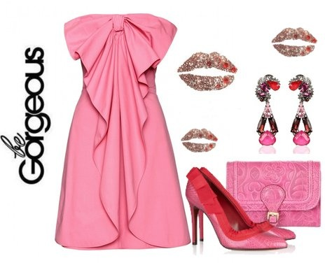 ShopStyle: Color of Fashion #142: Pepto Bismol by Natural Born Styler, this dress is soooo cute!