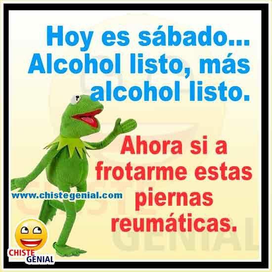 Chistes de borrachos - Hoy es sábado, alcohol listo #chistes #humor #chistegenial
