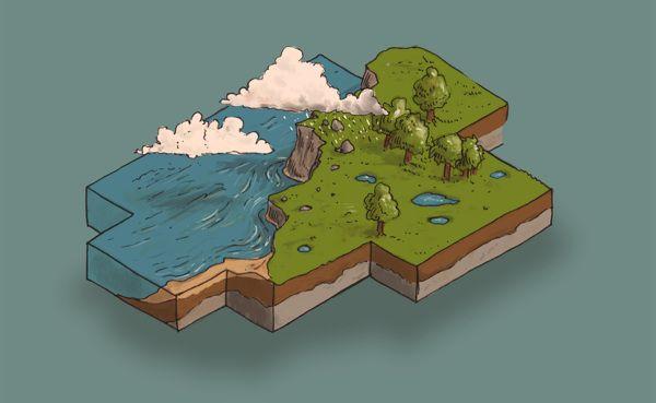 Worlds Ecosystem Services by Stefan Große Halbuer, via Behance