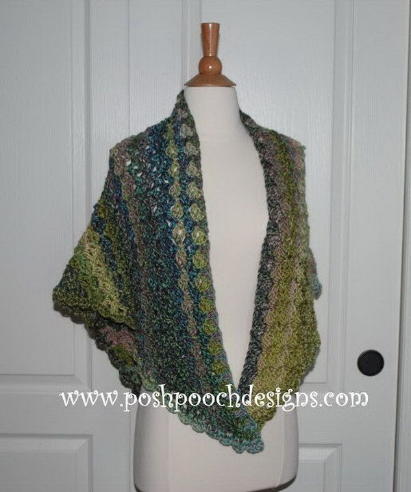 Crochet Triangle Shawl Patterns For Beginners : 902 best images about pelerines ,palinhas e xales de ...