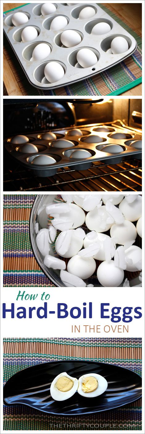 How To Make (Bake) The Perfect Hard Boiled Egg In The Oven - have you ever tried hard boiling eggs in the oven by baking them instead. This worked so well! Perfect eggs!!
