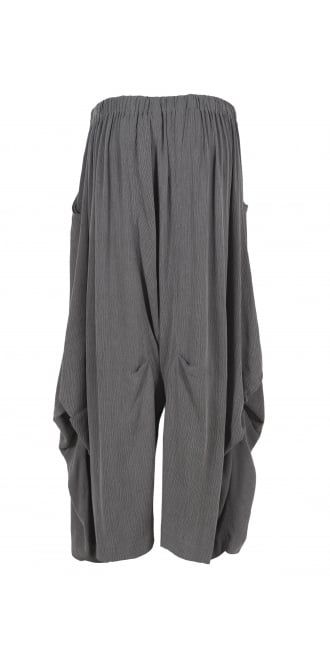 Kamuflage Women's Grey Stripe Balloon Trouser | idaretobe online