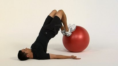 Exercise of the Day! Strengthen your hamstrings and glutes while gaining core stability with the Leg Curl (Stability Ball).