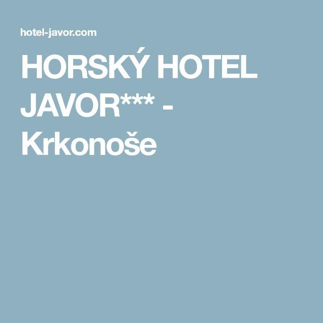 HORSKÝ HOTEL JAVOR*** - Krkonoše