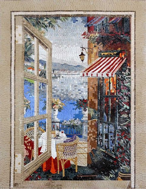 Mosaic - wow!!!  This is absolutely beautiful...I never cease to be blown away by all the talent in the world. If I just had a tiny piece of it...