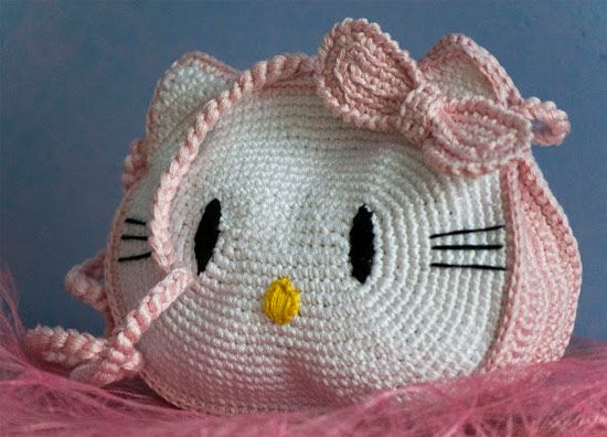 Inspiração Hello Kitty - bolsa de crochê