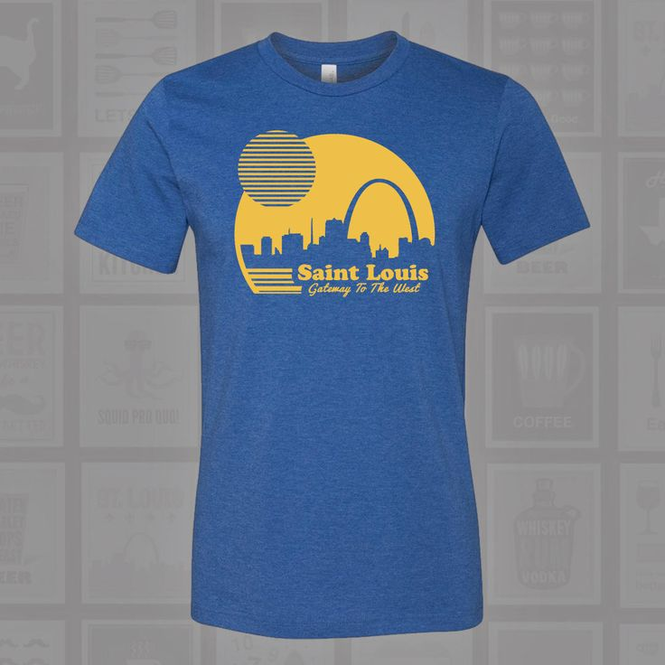 Gateway to the West, St Louis, STL, STL Sunrise, St Louis Arch, STL Arch, St Louis Shirt, St Louis Arch Shirt, Arch Shirt by BentonParkPrints on Etsy