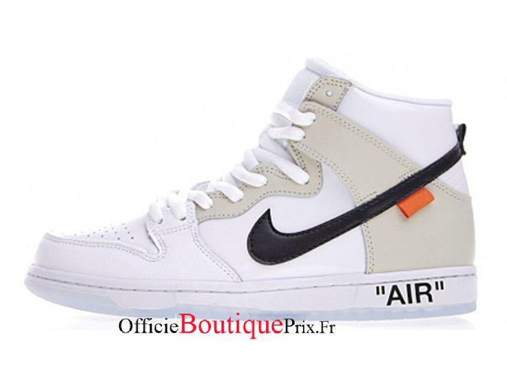 Nike SB Dunk High Off White White Black 854851-100 Chaussure Nike Sneaker Prix Pour Homme/Femme – 854851-100